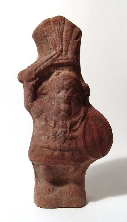 Egyptian terracotta figure of the god Bes