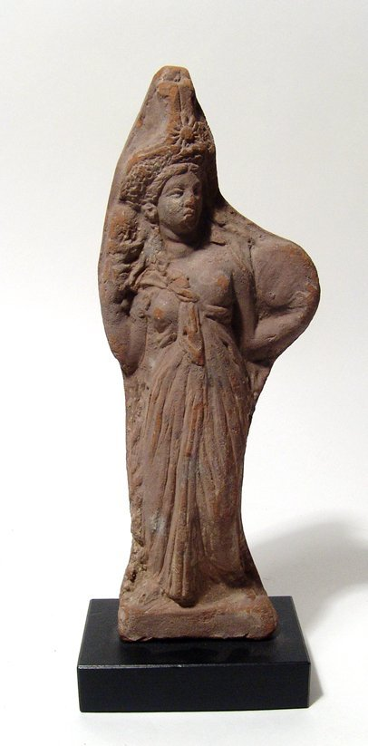 Greek terracotta figure of a priestess of Isis