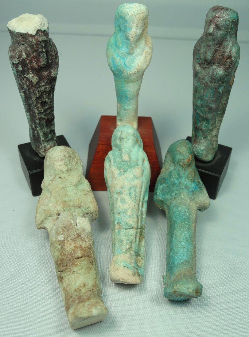 A lot of 6 Egyptian faience ushabtis