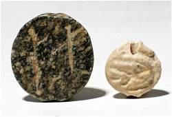 A pair of JemdetNasr stamp seals