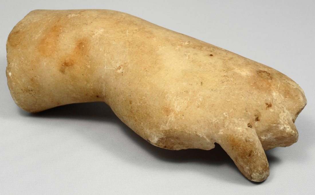 Roman marble right hand and forearm