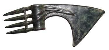 Attractive Near Eastern bronze axe head