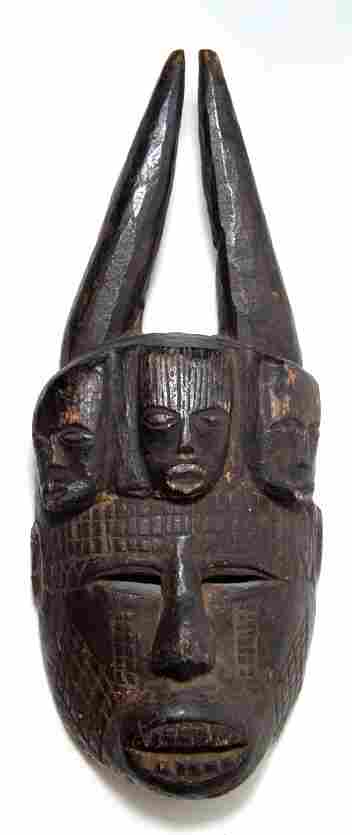 An anthropomorphic mask from the Ibo tribe of Nigeria
