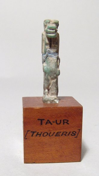Egyptian faience amulet of the goddess Taweret