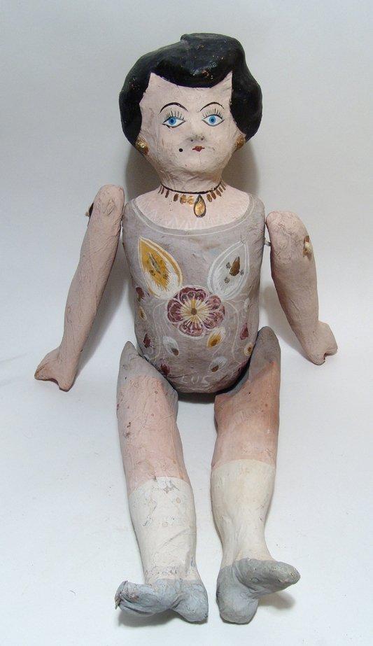 3 vintage Mexican paper-mache dolls - 2