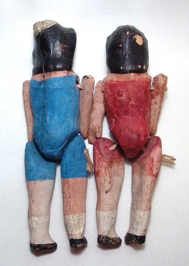 3 vintage Mexican paper-mache dolls - 5