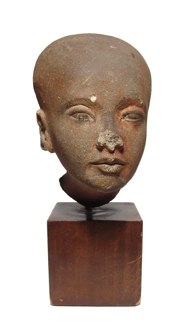 An Amarna period limestone head of a princess