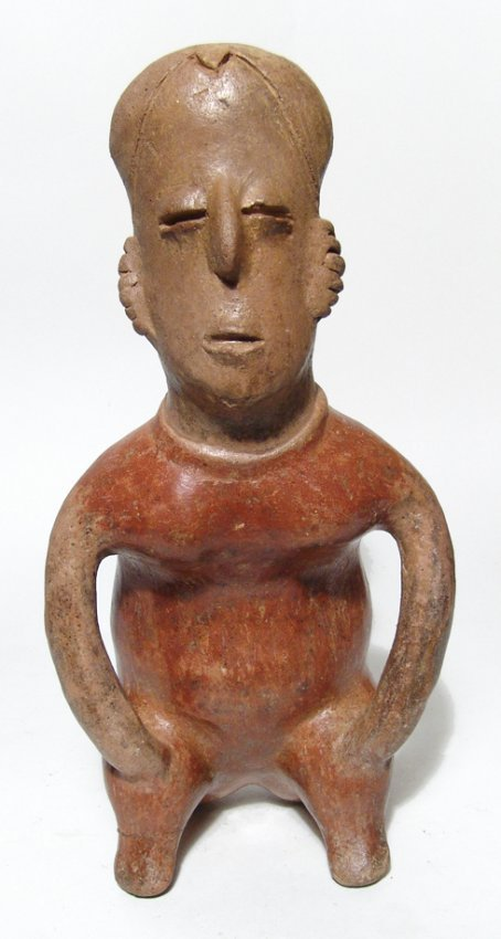 A good sized Nayarit seated female figure