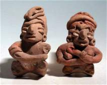 A pair of adorable Chupicuaro figures from Mexico
