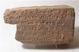 An Elamite terracotta cuneiform brick