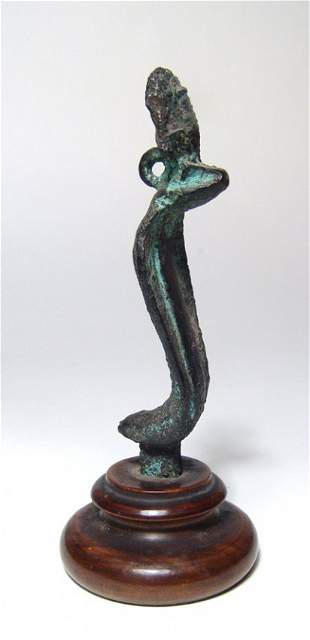 A nice Egyptian bronze uraeus, Late Period