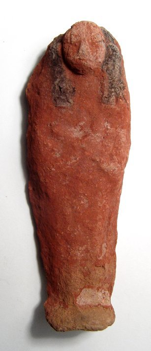 A nicely painted Egyptian terracotta ushabti