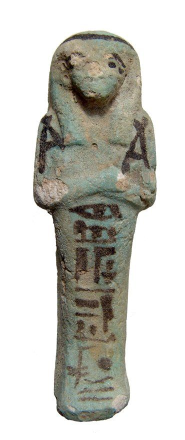 Egyptian faience bicolor faience Ushabti