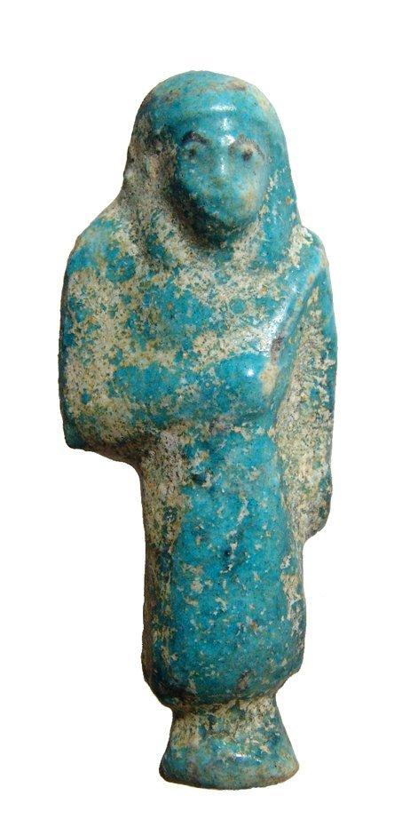 Egyptian blue faience Reis or Overseer Ushabti
