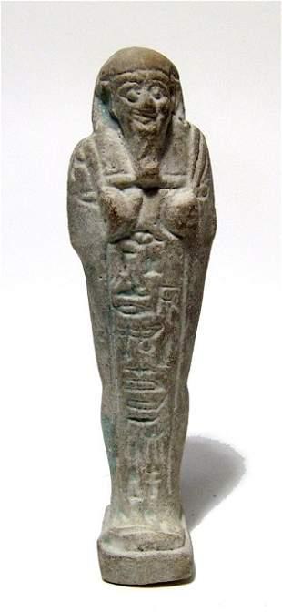 Egyptian faience ushabti, Late Period
