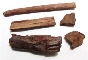 Egyptian fragmentary wood items