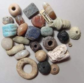 Assorted collection of ancient beads