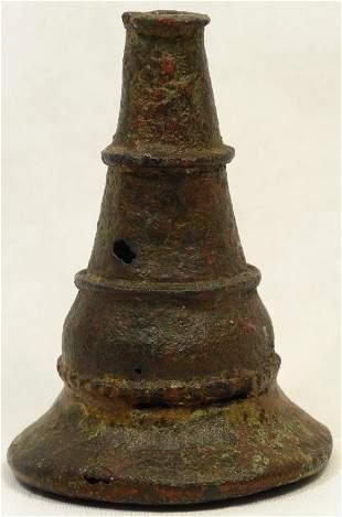 An elegant Bactrian bronze kohl vessel