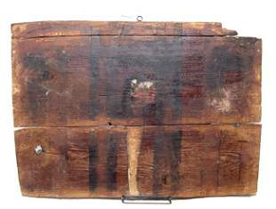 Egyptian wooden panel from a sarcophagus