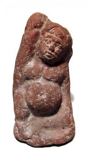 Egyptian terracotta nude ithyphallic youth, Roman