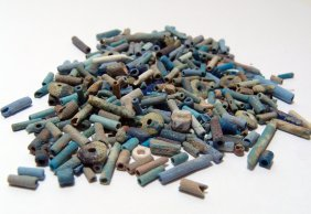 A Group Of Egyptian Faience Tube Beads