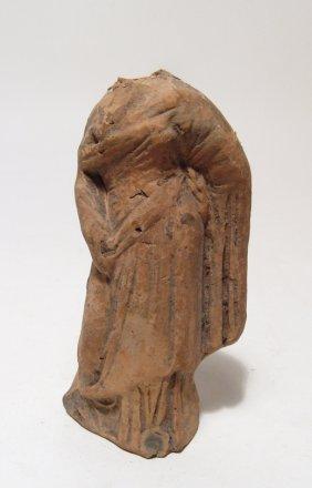 A Greek Terracotta Robed Female Torso