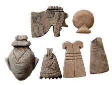 A group of 6 Egyptian stone amulets