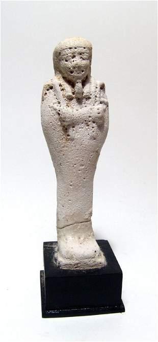 Egyptian light blue faience ushabti, Late Period
