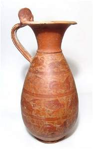 A very large Etrusco-Corinthian red-figure olpe