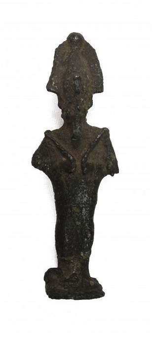 A bronze figure of the god Osiris, Late Period