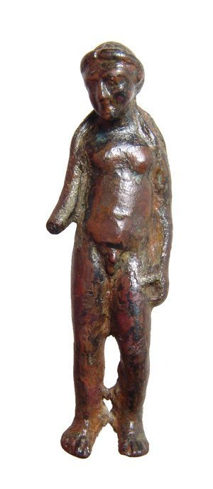 Roman bronze figure of Apollo, c. 1st - 2nd Century AD