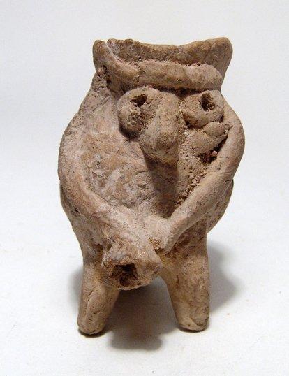 An interesting Hittite anthropomorphic spouted juglet
