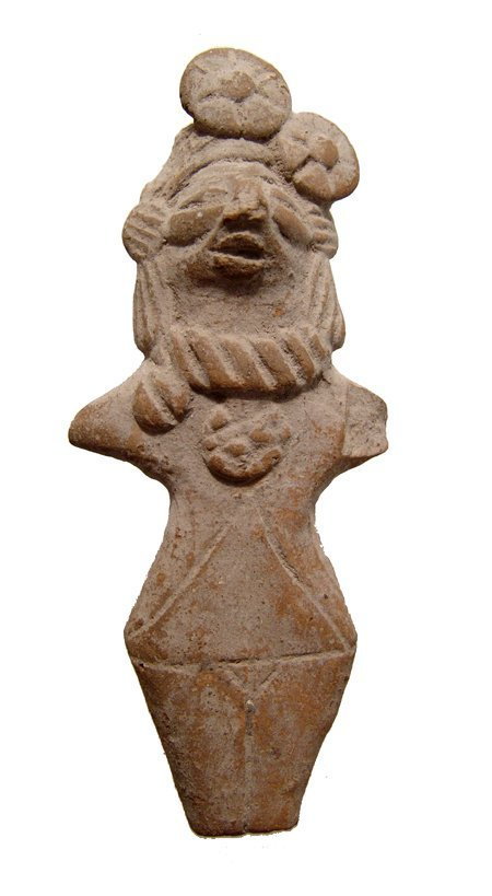 Indus Valley ceramic fertility figure of a woman, 3rd