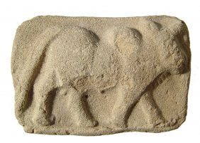 Old Babylonian Terracotta Plaque With A Humped Bull