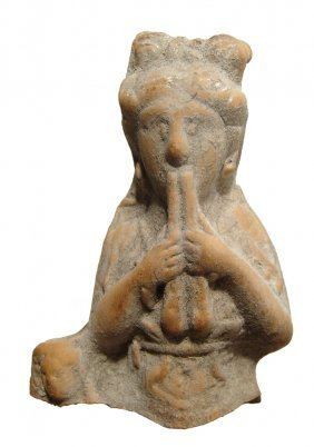 Cypriot Terracotta Torso Of A Musician, Hellenistic -