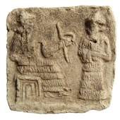 A beautiful Old Babylonian terracotta votive plaque