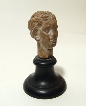 An Attractive Greek Terracotta Head Of A Lady