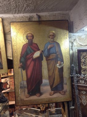 Very Large Icon Depicting Saint Paul Holding A Sword