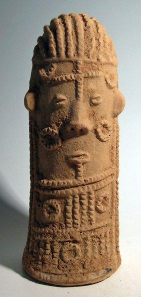 Bura Asinda Sikka Phallic Form Funerary Urn From