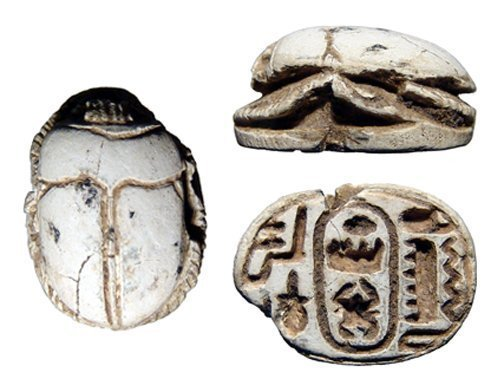Egyptian steatite scarab, New Kingdom, Ramesside Period