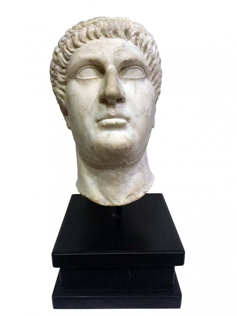 Oversized Roman Imperial Portrait of the Flavian Period
