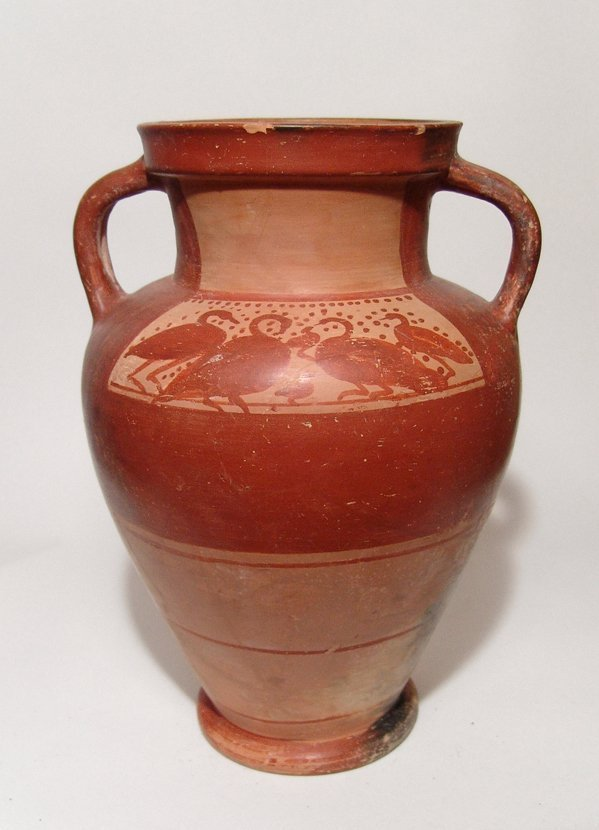A large Etruscan amphora with swans, Italic