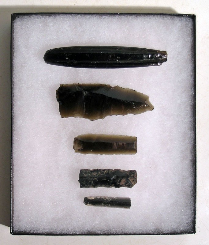 A set of obsidian artifacts from Teotihuacan, Mexico