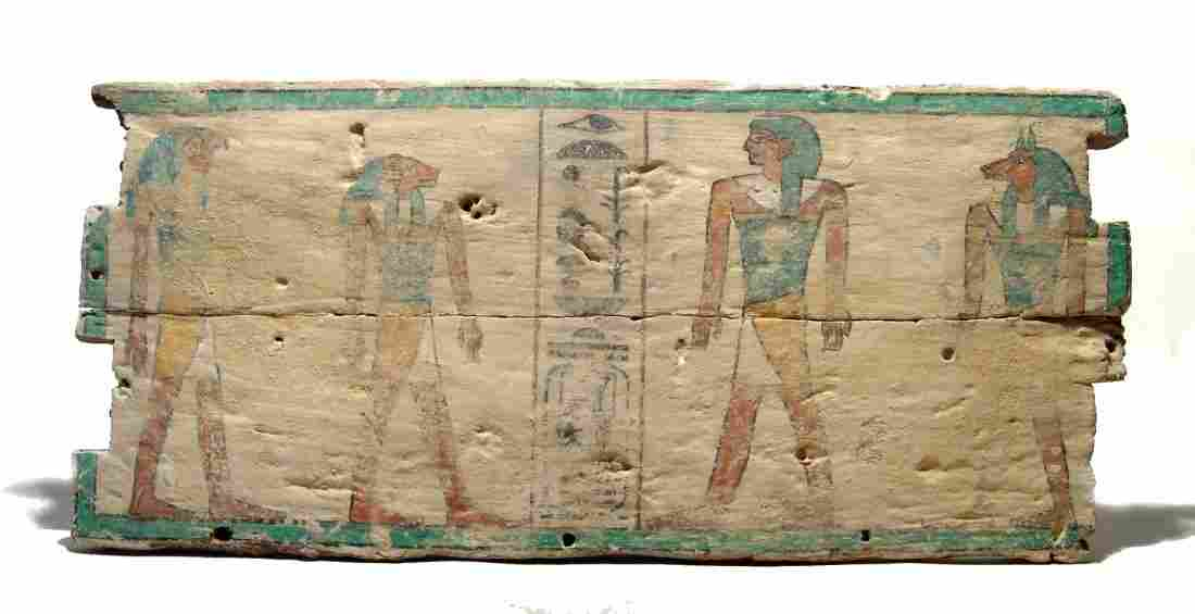 A lovely Egyptian painted wood panel