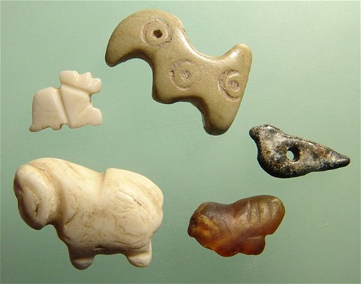 Group of five ancient Near Eastern animal amulets