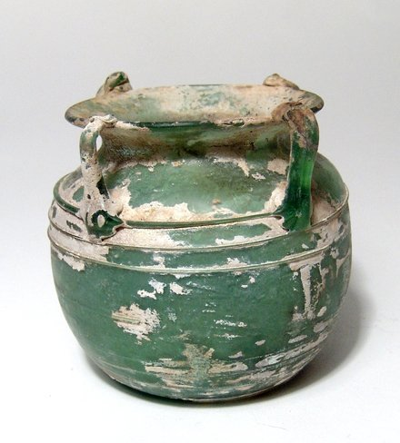 A fantastic Roman green glass vessel - 2