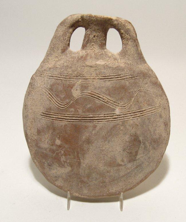 A lovely Holy Land pilgrim's flask, Byzantine