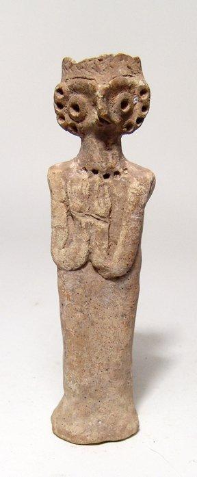 A Near Eastern terracotta Astarte figure