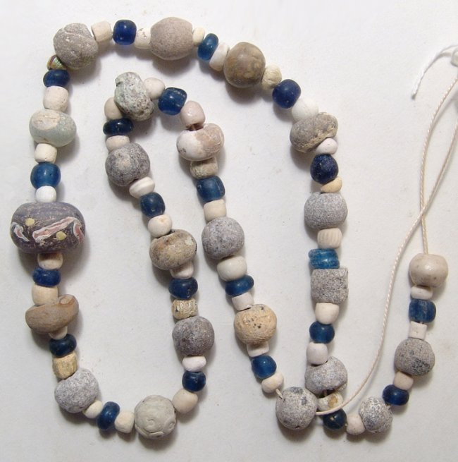 A Near Eastern/Holy Landmixed bead necklace