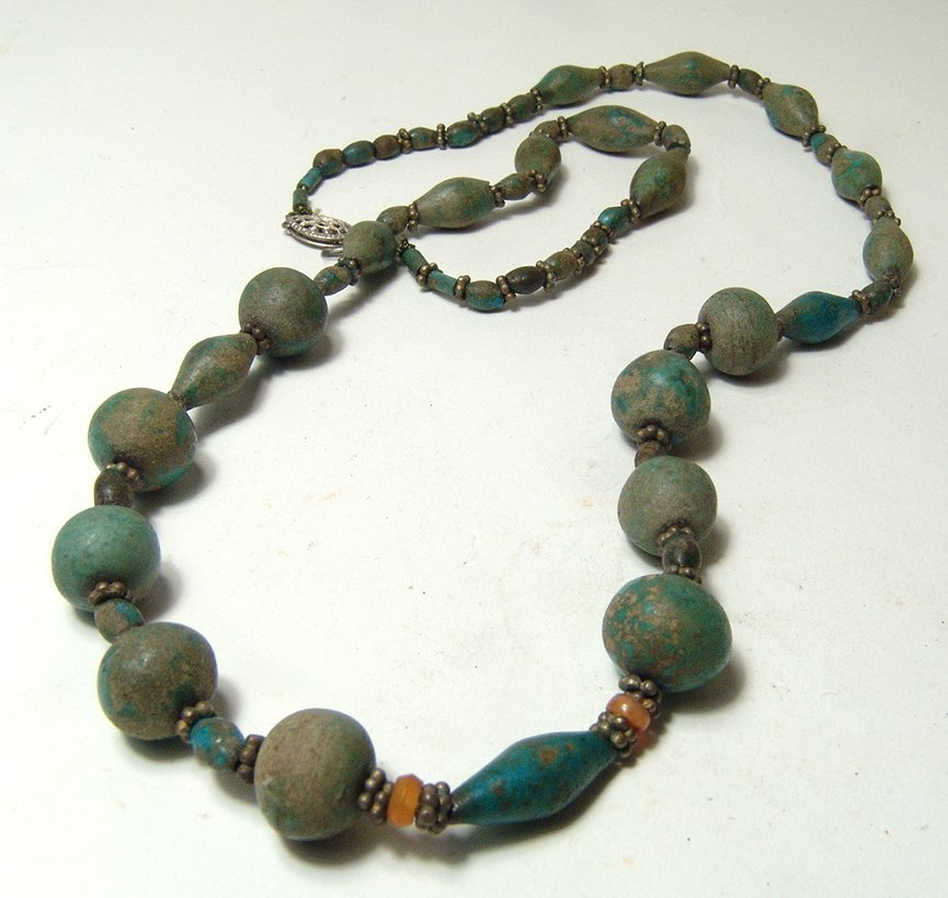 A choice Egyptian faience beaded necklace